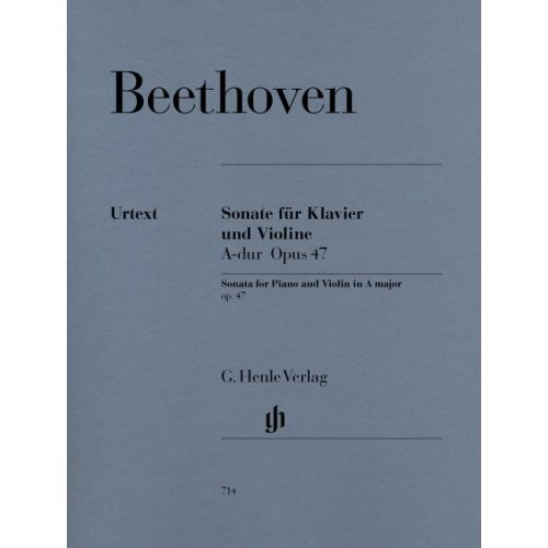 HENLE VERLAG BEETHOVEN L.V. - SONATA FOR PIANO AND VIOLIN A MAJOR OP. 47 (