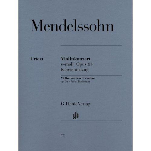 HENLE VERLAG MENDELSSOHN B F. - VIOLIN CONCERTO E MINOR OP. 64