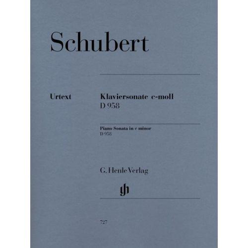 HENLE VERLAG SCHUBERT F. - PIANO SONATA C MINOR D 958