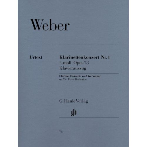 HENLE VERLAG WEBER C.M.V. - CLARINET CONCERTO AND ORCHESTRA NO. 1 F MINOR OP. 73