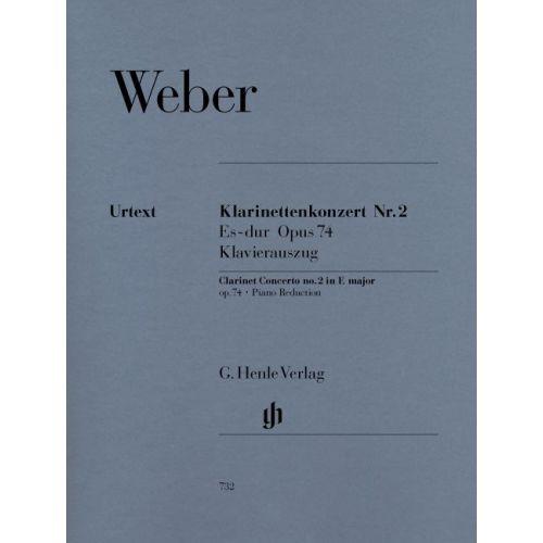 HENLE VERLAG WEBER C.M.V. - CLARINET CONCERTO NO. 2 E FLAT MAJOR OP. 74