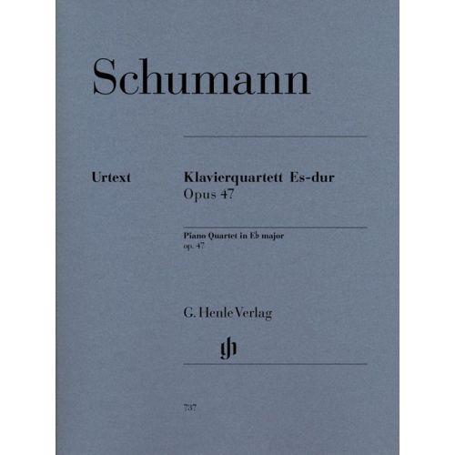 HENLE VERLAG SCHUMANN R. - PIANO QUARTET IN EB MAJOR OP. 47