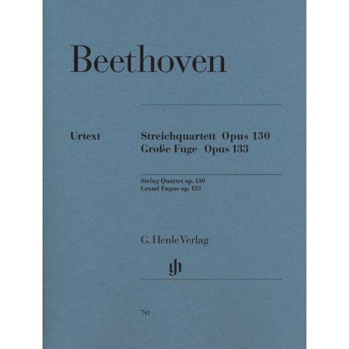 HENLE VERLAG BEETHOVEN L.V. - STRING QUARTET IN BB MAJOR OP. 130 AND GREAT FUGUE OP. 133