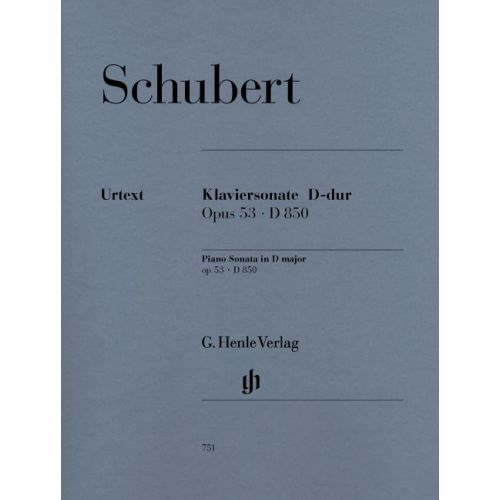 HENLE VERLAG SCHUBERT F. - PIANO SONATA D MAJOR OP. 53 D 850