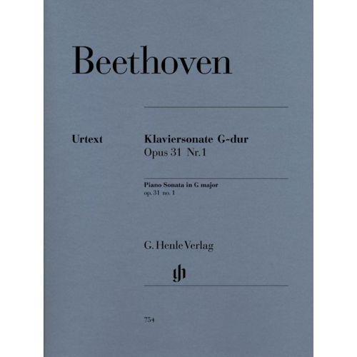 HENLE VERLAG BEETHOVEN L.V. - PIANO SONATA NO. 16 G MAJOR OP. 31,1