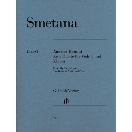 HENLE VERLAG SMETANA B. - FROM MY NATIVE LAND