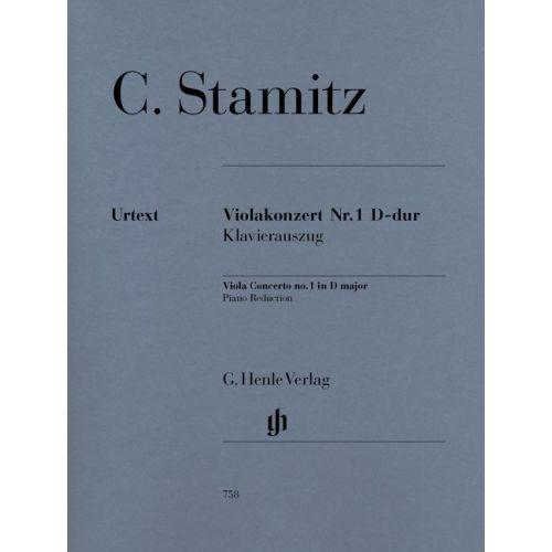 HENLE VERLAG STAMITZ C. - VIOLA CONCERTO NO. 1 D MAJOR