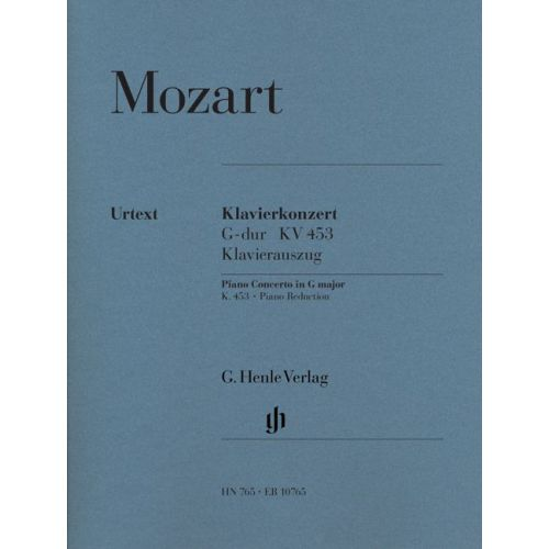 HENLE VERLAG MOZART W.A. - CONCERTO FOR PIANO AND ORCHESTRA G MAJOR K. 453