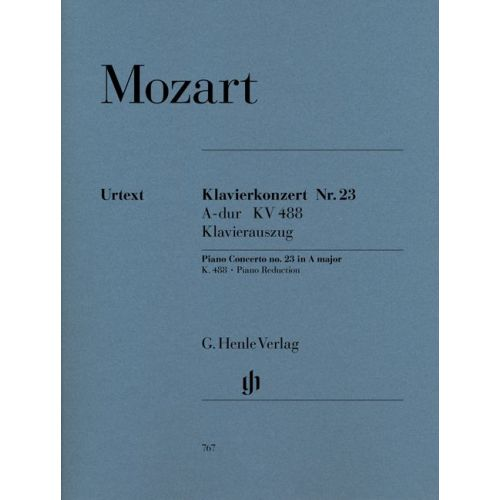 HENLE VERLAG MOZART W.A. - CONCERTO FOR PIANO AND ORCHESTRA A MAJOR K. 488