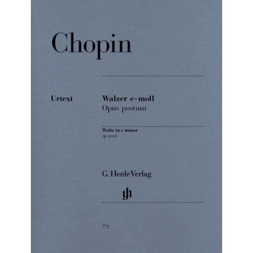 HENLE VERLAG CHOPIN F. - WALTZ E MINOR OP. POST.