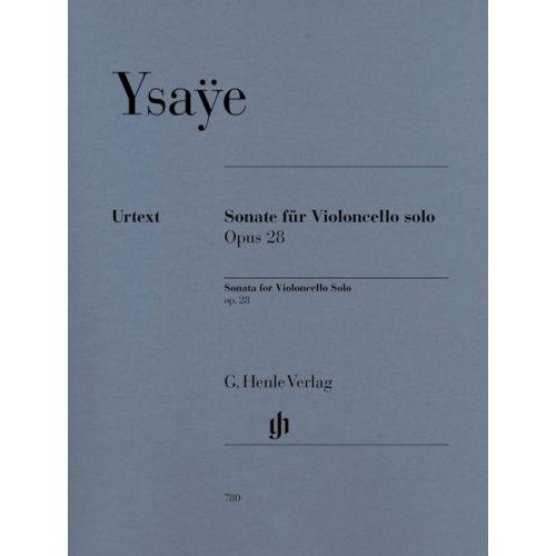 HENLE VERLAG YSAYE E. - SONATA FOR VIOLONCELLO SOLO OP. 28