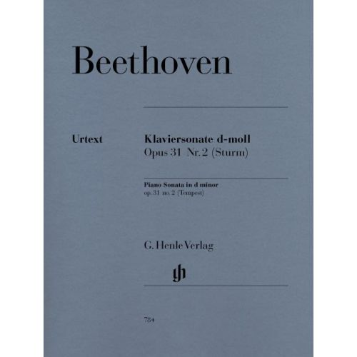 HENLE VERLAG BEETHOVEN L.V. - PIANO SONATA NO. 17 D MINOR OP. 31,2 [TEMPEST]