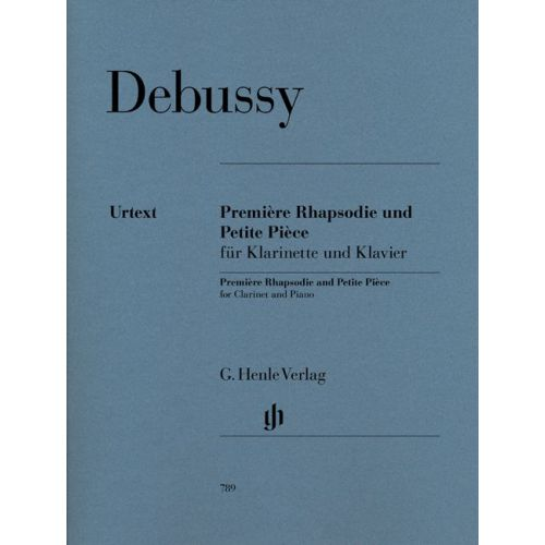 HENLE VERLAG DEBUSSY C. - PREMIERE RHAPSODIE UND PETITE PIECE