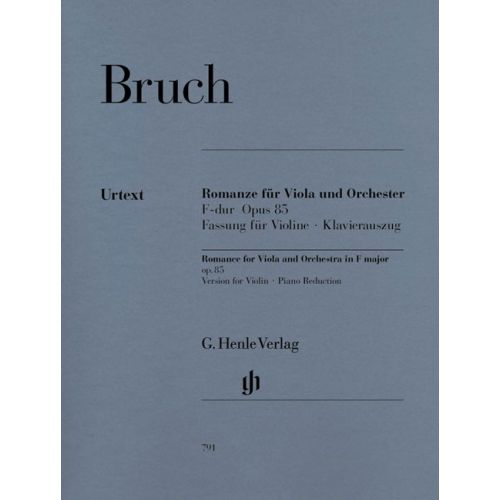 HENLE VERLAG BRUCH M. - ROMANCE FOR VIOLA AND ORCHESTRA F MAJOR OP. 85