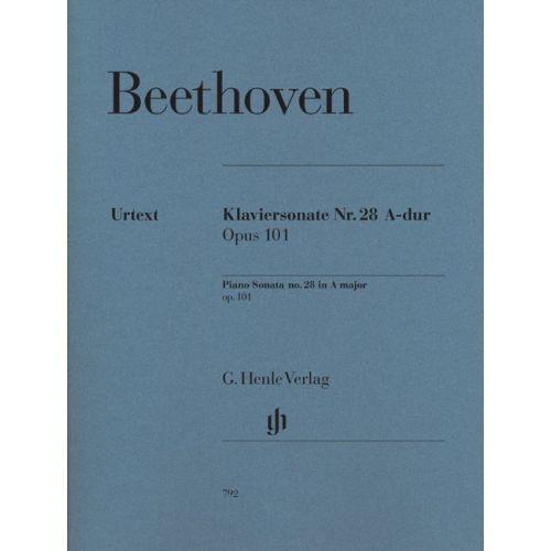 HENLE VERLAG BEETHOVEN L.V. - PIANO SONATA NO. 28 IN A MAJOR OP. 101
