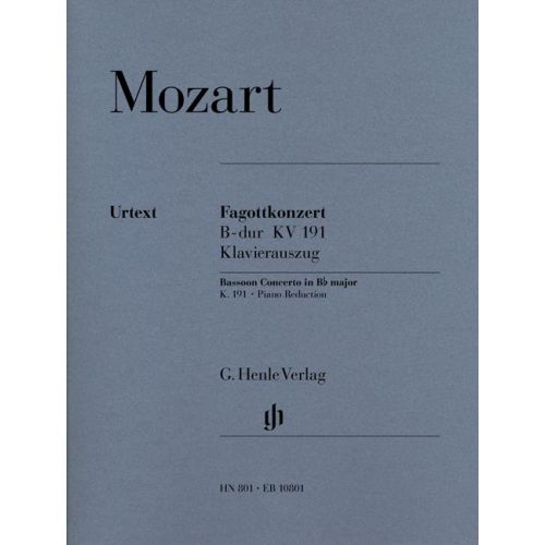 HENLE VERLAG MOZART W.A. - CONCERTO FOR BASSOON AND ORCHESTRA BB MAJOR K. 191