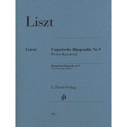HENLE VERLAG LISZT F. - HUNGARIAN RHAPSODY NO. 9 - PIANO