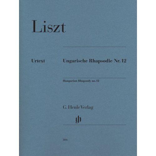 HENLE VERLAG LISZT F. - HUNGARIAN RHAPSODY NO. 12 - PIANO