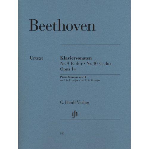 HENLE VERLAG BEETHOVEN L.V. - PIANO SONATAS NO. 9 IN E MAJOR OP. 14,1 AND NO. 10 IN G MAJOR OP. 14,2