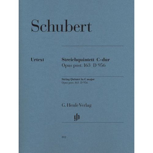 HENLE VERLAG SCHUBERT F. - STRING QUINTET C MAJOR OP. POST. 163 D 956