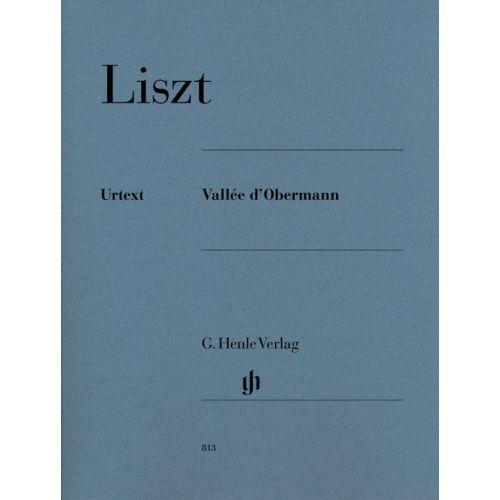 HENLE VERLAG LISZT F. - VALLEE D'OBERMANN