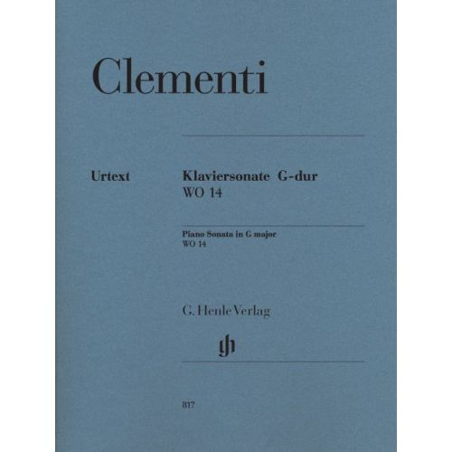 HENLE VERLAG CLEMENTI M. - PIANO SONATA G MAJOR WO 14