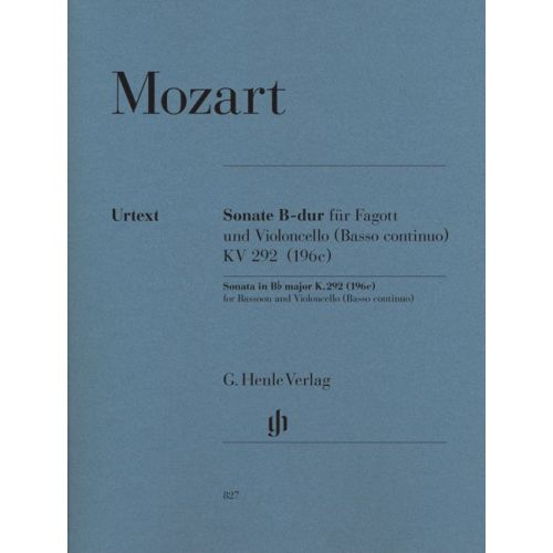 HENLE VERLAG MOZART W.A. - SONATA IN BB MAJOR K. 292 (196C)