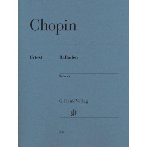 HENLE VERLAG CHOPIN F. - BALLADES