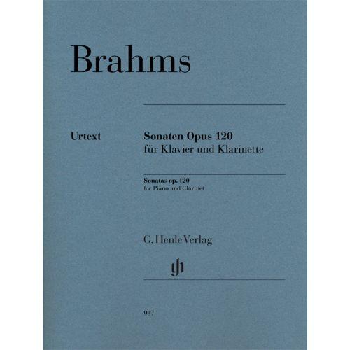 HENLE VERLAG BRAHMS J. - KLARINETTENSONATEN OP.120 - CLARINETTE & PIANO