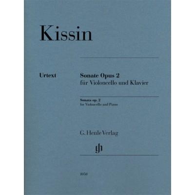 HENLE VERLAG KISSIN EVGENY - SONATE OPUS 2 - VIOLONCELLE & PIANO