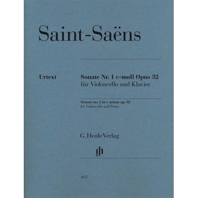 HENLE VERLAG SAINT SAENS C. - PREMIERE SONATE OPUS 32 - VIOLONCELLE ET PIANO