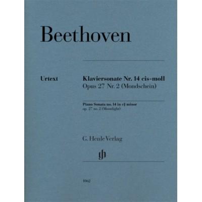 HENLE VERLAG BEETHOVEN L.V. - PIANO SONATA NO. 14 C SHARP MINOR OP. 27,2 [MOONLIGHT]