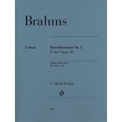 HENLE VERLAG BRAHMS J. - STRING QUARTET N°1 Bb MAJOR OP.18
