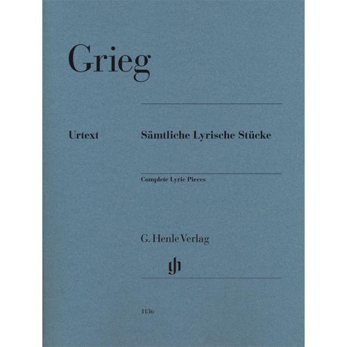 HENLE VERLAG GRIEG E. - COMPLETE LYRIC PIECES