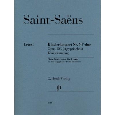 HENLE VERLAG SAINT-SAENS CAMILLE - CONCERTO POUR PIANO N°5 OP.103 (DIT