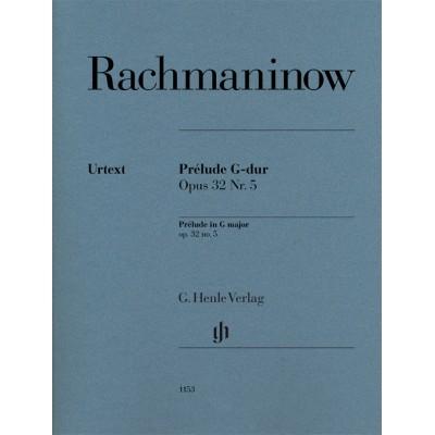 HENLE VERLAG RACHMANINOV S. - PRELUDE G-DUR OP.32 N°5 - PIANO