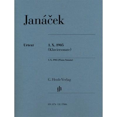 HENLE VERLAG JANACEK LEOS - 1.X.1905 - PIANO SONATA