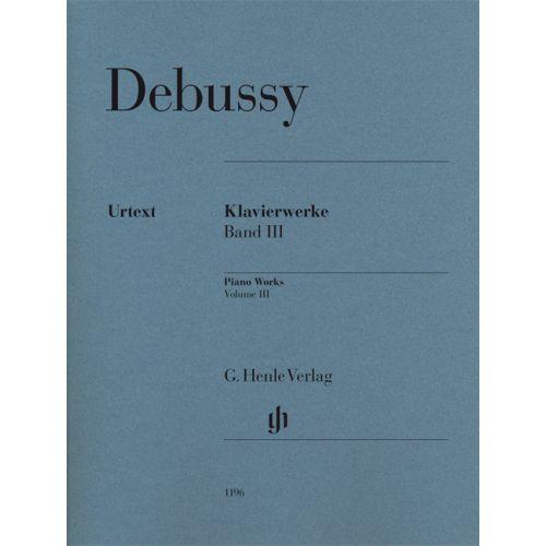HENLE VERLAG DEBUSSY CLAUDE - KLAVIERWERKE BAND 3
