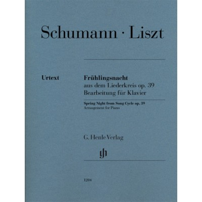 HENLE VERLAG LISZT F. - SPRING NIGHT FROM SONG CYCLE OP.39 (SCHUMANN) - PIANO