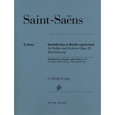 HENLE VERLAG SAINT-SAENS CAMILLE - INTRODUCTION ET RONDO CAPRICCIOSO OP.28 - VIOLON & PIANO