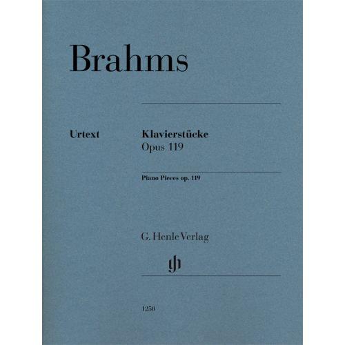 HENLE VERLAG BRAHMS JOHANNES - PIANO PIECES OP.119
