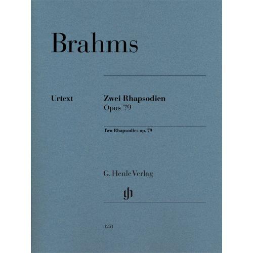 HENLE VERLAG BRAHMS JOHANNES - DEUX RHAPSODIES OP.79 - PIANO