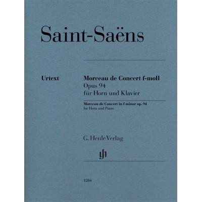 HENLE VERLAG SAINT-SAENS CAMILLE - MORCEAU DE CONCERT IN F MINOR OP.94 - COR & PIANO