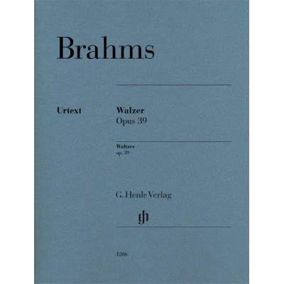 HENLE VERLAG BRAHMS J. - WALTZES OP. 39