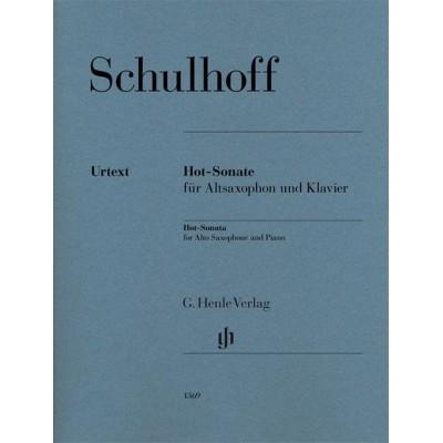 HENLE VERLAG SCHULHOFF ERWIN - HOT-SONATA - SAXOPHONE ALTO & PIANO