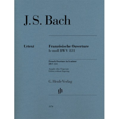 HENLE VERLAG BACH J.S. - FRANZOSISCHE OUVERTURE H-MOLL BWV 831