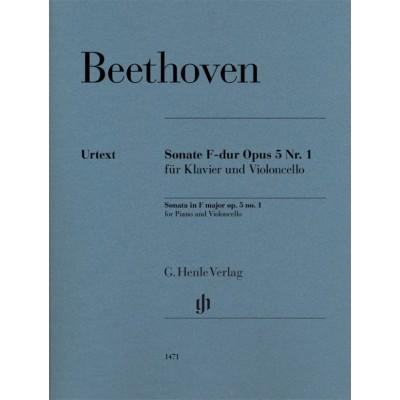 HENLE VERLAG BEETHOVEN L.V. - SONATA IN F MAJOR OP.5 N°1 - VIOLONCELLE & PIANO