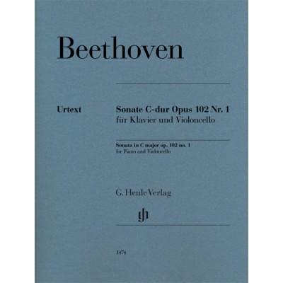 HENLE VERLAG BEETHOVEN L.V. - SONATE C-DUR OP.102 N°1 - VIOLONCELLE & PIANO