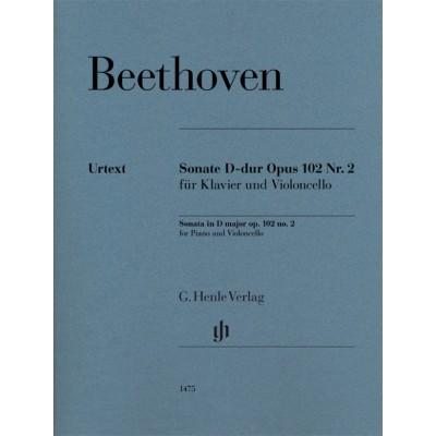 HENLE VERLAG BEETHOVEN L.V. - SONATE D-DUR OP.102 N°2 - VIOLONCELLE & PIANO
