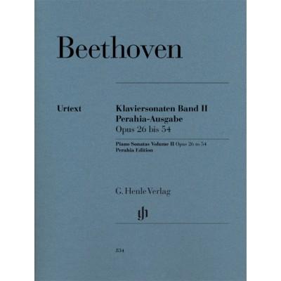 HENLE VERLAG BEETHOVEN L.V. - PIANO SONATAS VOL.2 OP.26-54 (PERAHIA EDITION)